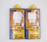 chargeur rapide de double de ports USB d'UE 2.4A câble de datte avec des homologations