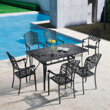 Buen Precio Muebles de jardín al aire libre Sillas de Dinging de aluminio fundido para la venta