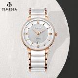 Armbanduhr der Mann-Dame-Ceramic mit Mineralglas 72845