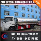 Dongfeng 저가 Inox 탱크 식용수 및 우유 유조 트럭