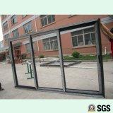 3 Spur-Aluminiumrahmen-Schiebetür, Fenster, Aluminiumfenster, Aluminiumfenster, Glastür K01017