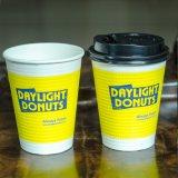 Degradable desechables de doble pared fría/caliente de café de aislamiento de la Copa de papel