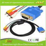 1.5m VGA Mannelijke Stop 15 Speld aan Kabel 3 RCA AudioAV