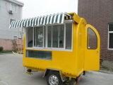 Hamburger mobili degli alimenti a rapida preparazione che Vending disegno dei carrelli da vendere con le rotelle
