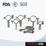 En acier inoxydable le collier du tuyau de qualité alimentaire avec manchon bleu (JN-PL2002)