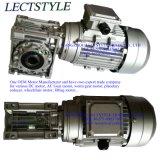 0.37kw 56rpm 48nのNmrv050 ACワームギヤ速度減力剤モーター。 Mの25:1