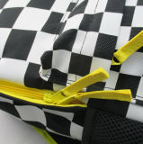 Checkered Print Polyester Back to School Rucksack