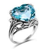 永久に愛925純銀製の方法結婚式のカップルの宝石類のリング