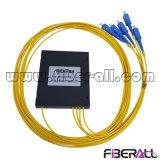 Sm G657A 1X4 PLC Splitter de fibra óptica con Caja de ABS