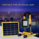 54 Levou alimentada a energia solar Solar Portátil Camping Luz do Farol de emergência com painel solar
