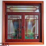 Vidros Duplos com Novo Design Madeira Janela Compand de alumínio