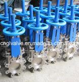 ANSI16,5 ковких чугунных запорный клапан ножа из нержавеющей стали