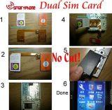 2 Em 1 Twin Dupla GSM Suporte Adaptador do cartão SIM para o Mobile (ISP-DSA)