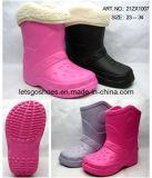 エヴァゴム製PVC冬の雪は毛皮が付いている雨靴を起動する