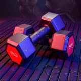 Free Weight Fixed Rubber Coated Hex Dumbbell Gym Equipment