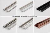 Perfil de alumínio da série 6000 para inserções/Canal Slatwall Slatwall com acabamento em cor anodizado do Moinho