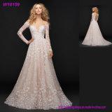 Платья венчания шнурка втулки розового Bridal поставщика Китая износа длинние