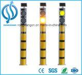 Bolardo solar de la muestra del control de tráfico LED