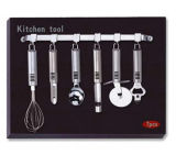 Os Pcs 7 Conjunto de Ferramentas de cozinha w/titular (KTB601)