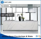 De kunstmatige Stevige Oppervlakte van het Kwarts voor Countertops van de Keuken met SGS Rapport (Calacatta)