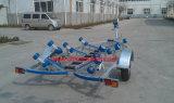 Reboque galvanizado do barco com rolos Tr0218