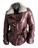Manteaux d'hiver Mesdames fourrure (KPL10-003-R)