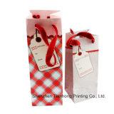 Мешок вина бумажный (OEM-PB029), упаковывая бумажные мешки