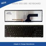 Клавиатура компьтер-книжки для клавиатуры Asus G53 G60 G73 G51 Baklight