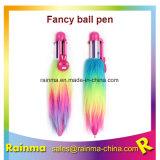 Bon marché coloré Bic 6 en 1 Cliquez sur stylo à bille avec fourrure colorés