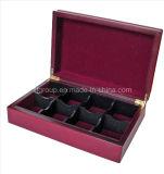 Лоснистый подгонянный MDF древесины отделки кладет коробки в коробку чая с отсеками