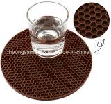 De ronde Mat van de Lijst van het Glas van het Silicone van de Honingraat van de Vorm Hittebestendige