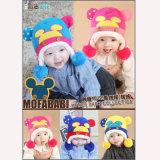 Los Niños Invierno adorable bebé Caps proteger los oídos del bebé niñas niños tapa caliente oreja tejidas de ganchillo bebé Hat regalo para niños