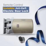 Sem cablagem para fácil instalação mais fixe Anti-Theft 433MHz com fechadura de porta invisível 2 telecomandos