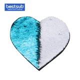 [بستسوب] تصعيد نقل [سقوين] مادة لأنّ لباس (قلب, ضوء - اللون الأزرق مع أبيض)
