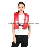 CCS solas aprobada Chaleco salvavidas inflables cintura Bpersonalized Marina Chaleco salvavidas inflables Manual automático