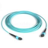 24 Núcleos MPO-fêmea de MPO OM3 patch cord 5m