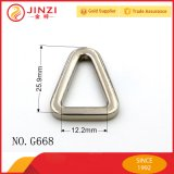 人の革製バッグのアクセサリのためのニッケルの三角形の金属のリング