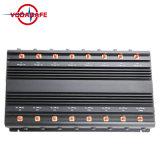 42W 4G 3G de Stoorzender van de Telefoon van de Cel van de Hoge Macht met KoelVentilator, Stoorzender/Blocker voor /3G/4G Cellulaire Telefoon, WiFi, GPS, Lojack