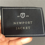 Custom 5.7*8cm de alta densidad de tejido de prendas de vestir ropa de etiqueta etiquetas principal