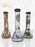 7mm tubo di acqua di fumo spesso della vernice di vetro di qualità superiore della coppa di Morty e di Ricky