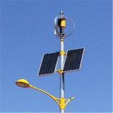 10m 100W Aerogenerador LED Lámpara de calle híbrido solar