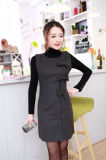 Nouveau design ultra fin Tweed Bow Femmes du réservoir de vêtements sans manches