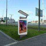 Outdoor double faces Pole défilement LED de la publicité Lightbox