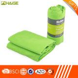 Commerce de gros Custom microfibre serviette avec sac de sport