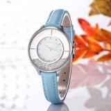 Quartzo simples Handwatch luxuoso relógio de pulso em couro impermeável baratos Wy-108
