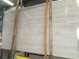 Muur van de Vloer van de Tegels van de Plakken van de Steen van China de Natuurlijke Houten Witte Marmeren Binnenlandse