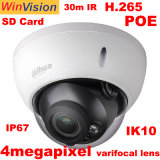 Fournisseur de vidéosurveillance Dahua original Ipc-Hdbw2431R-ZS ONVIF H. 265 4MP HD IR Dôme Caméra IP de surveillance de la sécurité Poe avec carte SD IK10 IP67