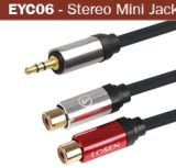 Mini jack 3,5 mm vers femelle Jack téléphonique câble audio RCA