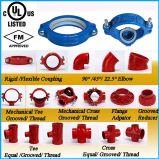 La traversa Grooved dell'accessorio per tubi del ferro duttile con FM/UL ha approvato