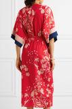 Высокое качество 2017 Флористическ-Печатает платье обруча De Китая Макси Crepe